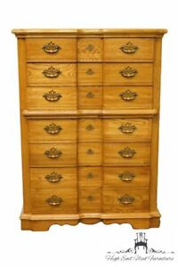Rock City Furniture Solid Oak Country French Block Front 40 Chest Of Drawers