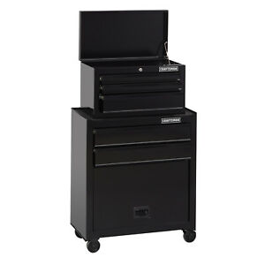 Craftsman 1000 Series 5 drawer Rolling Steel Tool Chest And Cabinet Combo Black