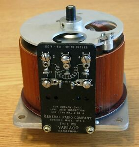 General Radio Type W5 Variac 120v 6 Amps 50 60 Cycles
