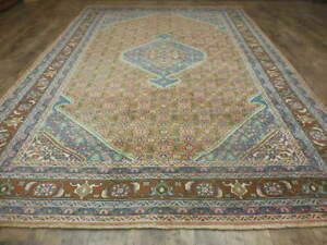 C1950 Super Persiann Afshari Herati Bijar Serapi Colores 7x10 Estate Sale Rug