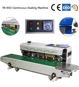 Automatic Continuous Sealer Plastic Bag Heat Sealing Machine Fr 900 With Coder