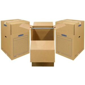 Bankers Box Smoothmove Wardrobe Moving Boxes Short 20 X 20 X 34 Inches 3 Pack