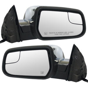 New Pair Power Side Mirror Heated Blind Spot Glass Memory 10 14 Equinox Terrain
