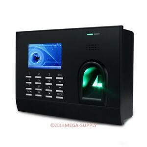New Fingerprint Rfid Card Attendance Time Clock With Tcp ip And Pc Software