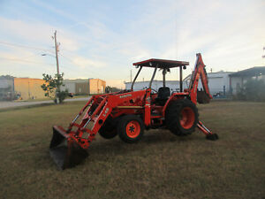 Kubota L 48 Loader Backhoe 4 Wheel Drive Hydro Transmission 48 Hp Diesel
