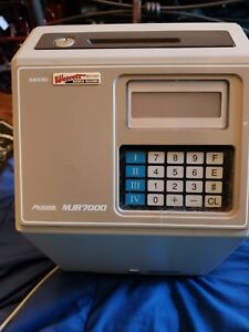Amano Mjr7000 Microcoder Time Clock Works free Shipping