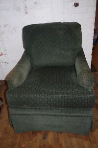 Pair Of Green Cut Velvet George Smith Lounge Arm Chairs By Rist