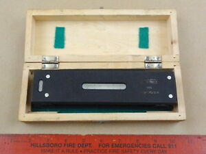 Very Nice Fowler 8 Machinist Lathe Level 0 005 10 Tool In Wooden Box