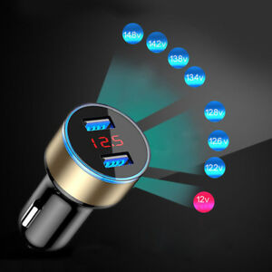 3 1a Usb Dual Ports Car Cigarette Lighter Charger 12v 24v Digital Led Voltmeter