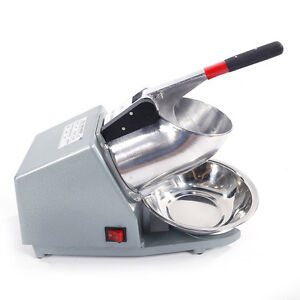 300w One Knife Stainless Countertop Electric Ice Shaver Crusher Machine Silver