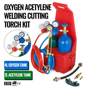 Professional Oxygen Propane Gas Welding Cutting Torch Kit W Tank Protable