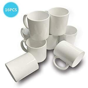 16 Pcs Mugs Coffee 11 Oz Sublimation Blank White Coated Ceramic Cup Halloween By