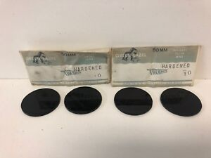 Set Of 4 New Old Stock Green Label 50mm Hardened Thermo Welder Lenses 10 11