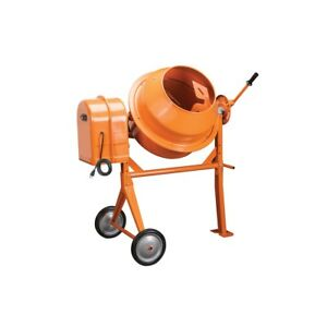 3 1 2 Cubic Ft Portable Solid Steel Stucco Mortar Cement Mixer New Free Fedex