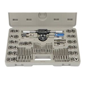 60 Piece Alloy Steel Sae Metric Tap And Die Set Case Incl Lifetime Warranty