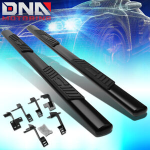 For 2019 2020 Ram Truck 1500 Crew Cab 5 Oval Step Nerf Bar Running Boards Black