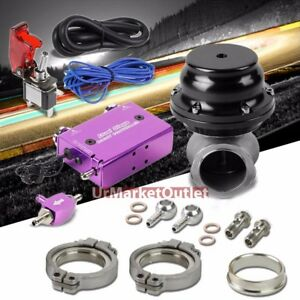 Purple Dual Stage Electronic Turbo Boost Control black Clamp on Ext Wastegate