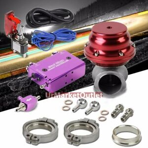 Purple Electronic Turbo Charger Boost Control red 14psi Clamp on Ext Wastegate