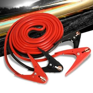 Heavy Duty 20ft 2 Gauge Copper Wire Battery Jumper Cables Jump Start Booster Kit