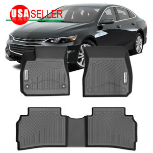 Car Floor Mats For 2016 19 Chevy Malibu All Weather Protection Heavy Duty Rubber