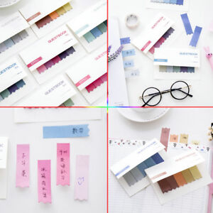 100 Pages Office Sticky Notes Tab Strip Sticker Bookmark Marker Memo Pads Flags