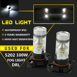 For Jeep Cherokee 2014 2015 2016 2017 2018 100w 2504 Led Fog Light 6500k White