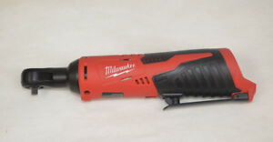 Milwaukee 2456 20 Cordless 12v M12 1 4 Drive Ratchet Bare Tool Only