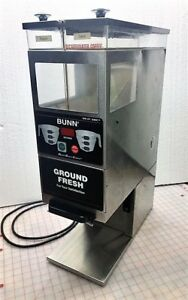 Bunn Coffee Grinder G9 2t Dbc Smart Funnel dual Hopper stainless Portion Control