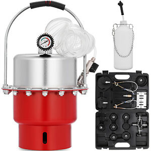 Pneumatic Air Pressure Brake Bleeder Kit Portable Tool Connector Garage