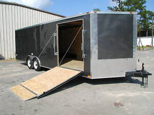 New 8 5 X 24 Enclosed Carhauler Cargo Trailer 10k Axles