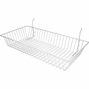 Econoco Multi fit Shallow Basket For Slatwall Grid Or Pegboard 24inwx12indx4inh