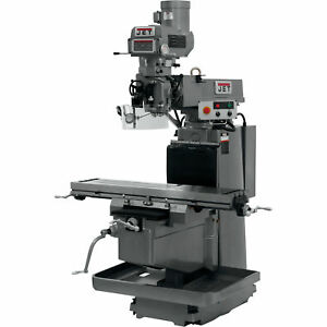 Jet Milling Machine W 3 axis Acu rite G 2 Millpower Cnc W air Power Drawbar
