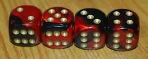 Dudds Dice Black Red W Gold Dots Valve Stem Caps 4 Pack 66