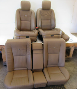 09 Mercedes W221 S600 Seats Front And Rear Brown