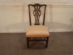 50053 Henredon Solid Mahogany Chippendale Style Side Chair