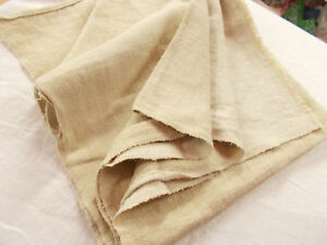 Vtg Antique Herringbone Woven Hemp Linen Feed Grain Bag Sack Blanket Quilt 37x74
