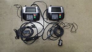 Lot 2 Verifone Mx860 Point Of Sale Credit Card Terminal W Pen And Cables Works