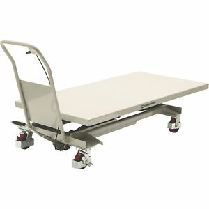 Strongway 2 speed Hydraulic Table Cart With Rapid Lift 1200 lb Capacity