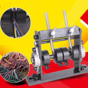 Industrial 1 20mm Wire Stripping Machine Kit Steel Home Portable Free Ship