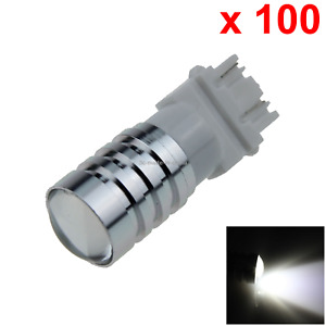 100x White Car 3157 Brake Light Backup Blub 1 Cree Led W2 5x16q 4157 F013