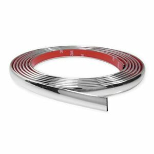 18 Feet Chrome Finish 5 8 Inches Auto Body Molding Trim And Wheel Well Trim