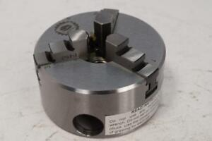 New Bison Precision 2 3 8 3 jaw Steel Lathe Chuck 1 2 20 Atlas Thread Mount