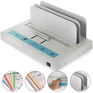 110v Thermal Binding Machine Neatly Bound No Noise Auto Press Contract 1 50mm