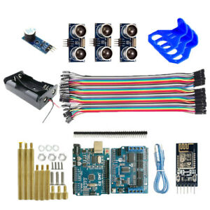 Robot Car Electronic Kit R3 Board Ultrasonic Sensor Wifi Module For Arduino