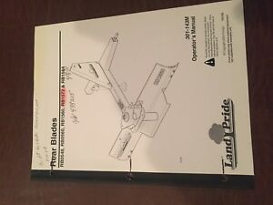 Land Pride Rear Blade 0548 Rb1572 Rb1560 Operator Tractor Manual Operator s