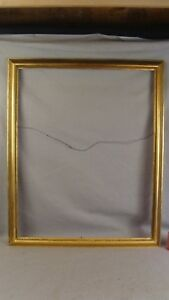 Antique Thulin Large Carved Gilt Wood Picture Frame 42x32