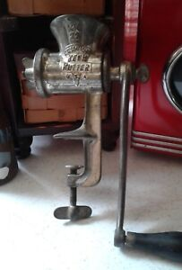 Vntg E G Simmons Keen Kutter Usa Meat Grinder Pat May 2906