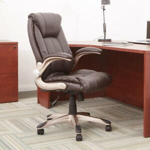 Work Smart Faux Leather Mid Back Managers Chair flh24981 u1