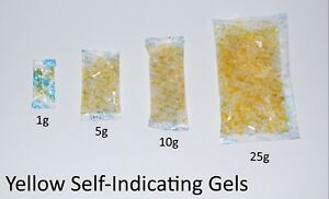 Yellow Self Indicating Silica Gel Desiccant Sachets Moisture Absorber