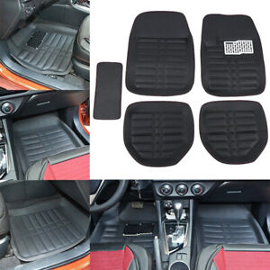 5pcs Car Auto Floor Mats Floorliner Front Rear Carpet All Weather Mat Universal